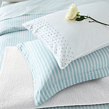 Buy Sanderson Tiger Stripe Bedding, Aqua Online at johnlewis.com