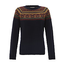 Buy Jigsaw Fairisle Jumper, Navy Online at johnlewis.com
