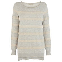 Buy Oasis Lace Stripe Jumper, Mid Green Online at johnlewis.com