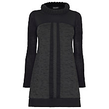 Buy James Lakeland Knitted Collar Tunic, Black/Grey Online at johnlewis.com