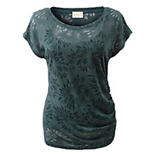 Buy East Floral Burnout Top, Ivy Online at johnlewis.com