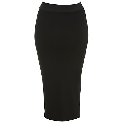 Buy Miss Selfridge Midi Tube Skirt, Black Online at johnlewis.com