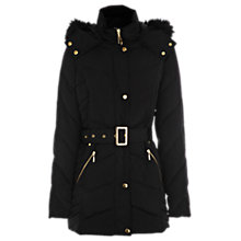 Buy Oasis Long Feather and Down Coat, Black Online at johnlewis.com