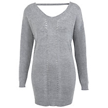 Buy Miss Selfridge Angora Tunic Top, Grey Online at johnlewis.com