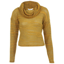 Buy Miss Selfridge Fluffy Cowl Neck Cropped Jumper, Ochre Online at johnlewis.com