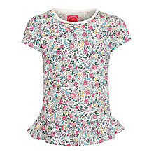 Buy Little Joule Girls' Meadow Ditsy Print T-Shirt, Multi Online at johnlewis.com