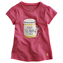 Buy Little Joule Girls' Maggie Mouse T-Shirt, Pink Online at johnlewis.com