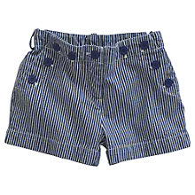 Buy Little Joule Girls' Lauren Ticking Stripe Shorts, Blue Online at johnlewis.com