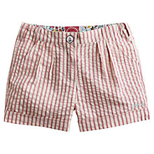 Buy Little Joule Girls' Cassie Stripe Shorts, Light Pink Online at johnlewis.com