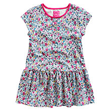 Buy Little Joule Girls' Tilly Jersey Dress, Ditsy Online at johnlewis.com