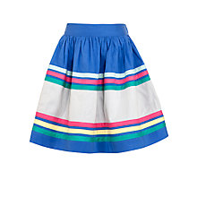 Buy John Lewis Girl Wide Stripe Skirt, Blue/Multi Online at johnlewis.com