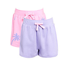 Buy John Lewis Girl Jersey Shorts, Pack of 2, Lilac/Pink Online at johnlewis.com
