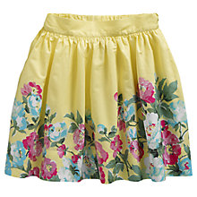 Buy Little Joule Girls' Floral Border Skirt, Lemon Online at johnlewis.com