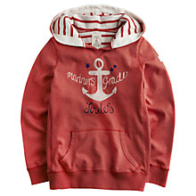 Buy Little Joule Girls' Anchor Hoodie, Red Online at johnlewis.com