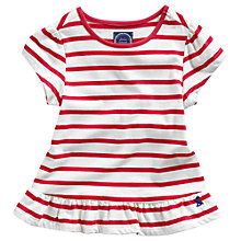 Buy Little Joule Girls' Meadow Stripe Top, Red Online at johnlewis.com