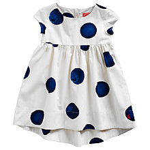 Buy Little Joule Girls' Kiera Polka Dot Dress, Blue/White Online at johnlewis.com