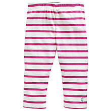 Buy Little Joule Girls' Runaround Crop Stripe Leggings, Pink Online at johnlewis.com