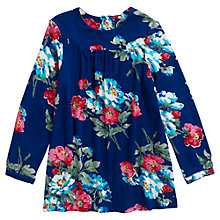 Buy Little Joule Girls' Rona Floral Tunic, Blue Online at johnlewis.com