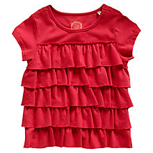 Buy Little Joule Girls' Flutter T-Shirt, Red Online at johnlewis.com