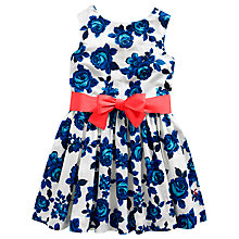 Buy Little Joule Girls' Constance Rose Print Dress, Blue/White Online at johnlewis.com