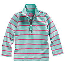 Buy Little Joule Girls' Fairdale Stripe Jumper, Pink/Green Online at johnlewis.com