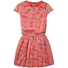 Buy Tommy Hilfiger Girls' Laine Floral Dress, Red Online at johnlewis.com