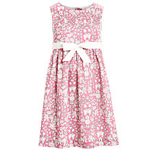 Buy John Lewis Girl Daisychain Print Smock Dress, Pink Online at johnlewis.com
