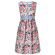 Buy John Lewis Girl Floral Print Ticking Dress, Multi Online at johnlewis.com
