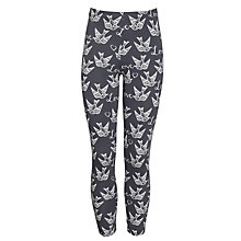 Buy John Lewis Girl Love Bird Print Leggings, Charcoal Online at johnlewis.com