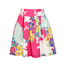 Buy John Lewis Girl Floral Print Cotton Skirt, Pink/Multi Online at johnlewis.com