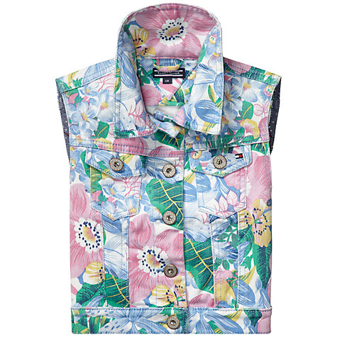 Buy Tommy Hilfiger Girls' Bermuda Flower Print Waistcoat, Multi Online at johnlewis.com