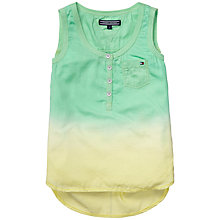 Buy Tommy Hilfiger Girls' Janet Dip Dye Vest Top, Green/Yellow Online at johnlewis.com