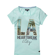 Buy Tommy Hilfiger Girls' 'I Love LA' T-Shirt, Navy Online at johnlewis.com