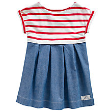 Buy Little Joule Girls' Emme Stripe Chambray Dress, Blue/Red Online at johnlewis.com