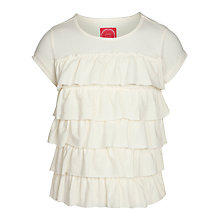 Buy Little Joule Girls' Flutter T-Shirt, Cream Online at johnlewis.com