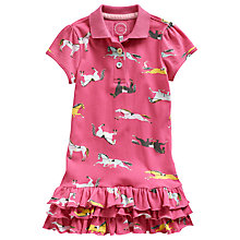 Buy Little Joule Girls' Horse Print Polo Dress, Pink Online at johnlewis.com
