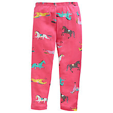 Buy Little Joule Girls' Dee Dee Horse Print Leggings, Pink Online at johnlewis.com
