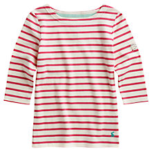 Buy Little Joule Girls' Marina Stripe Top, Pink/Cream Online at johnlewis.com