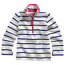 Buy Little Joule Girls' Fairdale Stripe Jumper, Blue/White Online at johnlewis.com