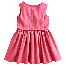 Buy Little Joule Girls' Luella Broderie Dress, Pink Online at johnlewis.com