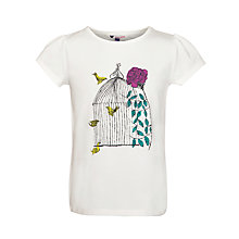 Buy John Lewis Girl Raymond Loewy Print T-Shirt, White Online at johnlewis.com