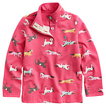 Buy Little Joule Girls' Horse Print Jumper, Pink Online at johnlewis.com