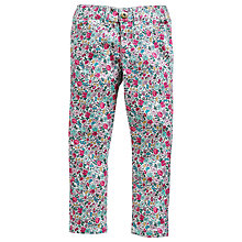 Buy Little Joule Girls' Pippi Floral Skinny Denim Jeans, Multi Online at johnlewis.com