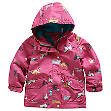 Buy Little Joule Girls' Kirsty Horse Print Jacket, Pink Online at johnlewis.com