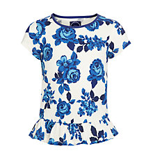 Buy Little Joule Meadow Peplum Girls' Top, Blue Online at johnlewis.com