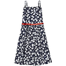 Buy Tommy Hilfiger Girls' Marina Floral Print Dress, Navy Online at johnlewis.com