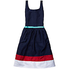 Buy Tommy Hilfiger Girls' Colour Block Sateen Dress, Navy Online at johnlewis.com