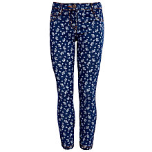 Buy John Lewis Girl Floral Skinny Denim Jeans, Blue Online at johnlewis.com