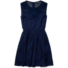 Buy Tommy Hilfiger Girls' Nani Dress, Navy Online at johnlewis.com