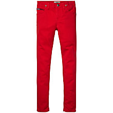 Buy Tommy Hilfiger Girls' Naomi Super Skinny Denim Jeans, Red Online at johnlewis.com